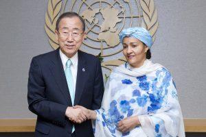 Amina Mohammed, bij haar benoeming tot VN Speciaal Adviseur van de Secretaris-generaal voor Post-2015 ontwikkelingsplanning op 6 augustus 2012 – UN Photo/Evan Schneider