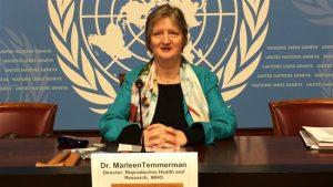Marleen Temmerman in haar hoedanigheid als Hoofd van het Departement Reproductieve Gezondheid en Onderzoek bij de Wereldgezondheidsorganisatie - © Press TV - WHO