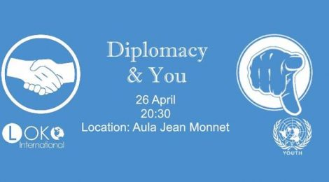 "VVN Youth Leuven presenteert ""Diplomacy & YOU"" (26/04)"