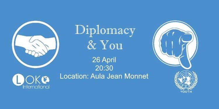 "VVN Youth Leuven presenteert ""Diplomacy & YOU"" (26/04)"