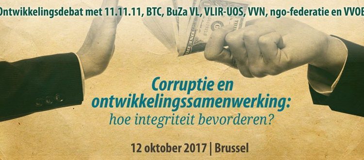 """Ontwikkelingsdebat: """"Corruptie en Ontwikkelingssamenwerking: Hoe Integriteit Bevorderen?"""" (12/10)"""