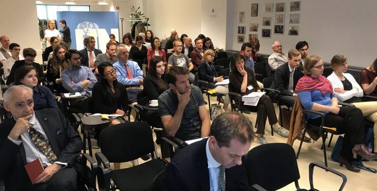 "Mevr. Maria Luisa Silva (UNDP) & Dhr. Rory Keane (UNLOPS) over ""The UN Development Pillar & Peace and Security Pillar"""