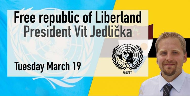 Microstate Liberland: lecture by president vít jedlička (UNYA Ghent)