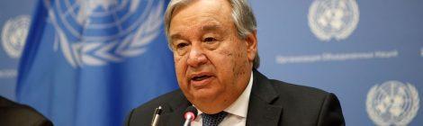 """Guterres roept alle landen op om """"inspanningen Coronavirus onmiddellijk te verdubbelen"""""""
